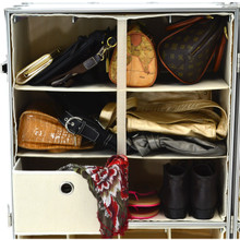 Rhino Urban Wardrobe three shelf inside view with shoes