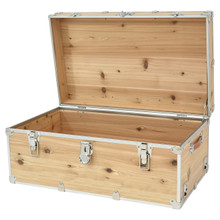 Rhino Large Cedar Storage Trunk open.
