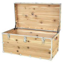 Rhino Jumbo Cedar Storage Trunk open.