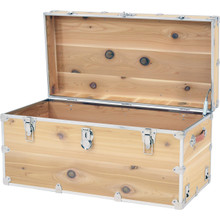 Rhino XXL Cedar Storage Trunk open.