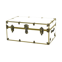 "Rhino Large Sticker Trunk with Brass Hardware - 32"" x 18"" x 14"""