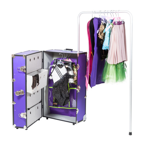 "Rhino Dance Star Wardrobe Trunk, 35"" x 21"" x 16"" weighs 44 lbs."