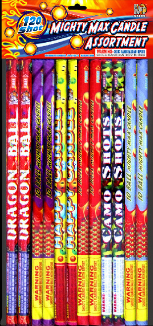 MIGHTY MAX CANDLE ASSORTMENT - 10 BALL