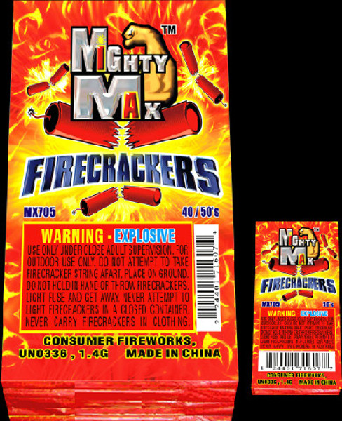 """1-1/2"""" MIGHTY MAX FIRECRACKERS"""
