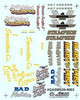 Gasser Miscellaneous Decal Sheet #3, 1/25