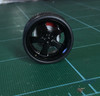 Large Black Flat-5-Spoke Wheels & Lo Profile Tires, 1/25, 1/16