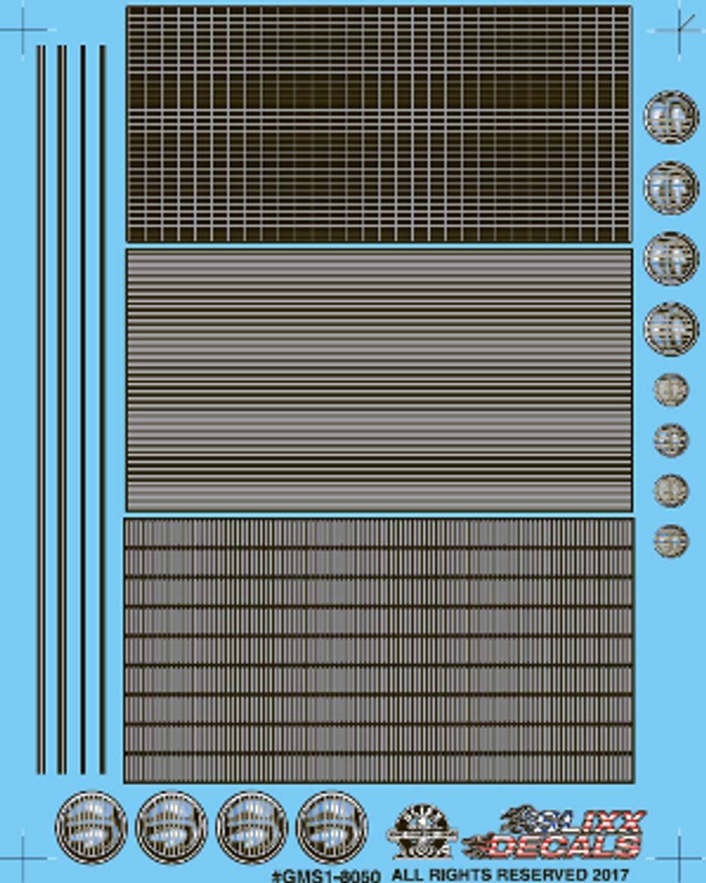 Grill Minii Decal Sheet #1 1/25