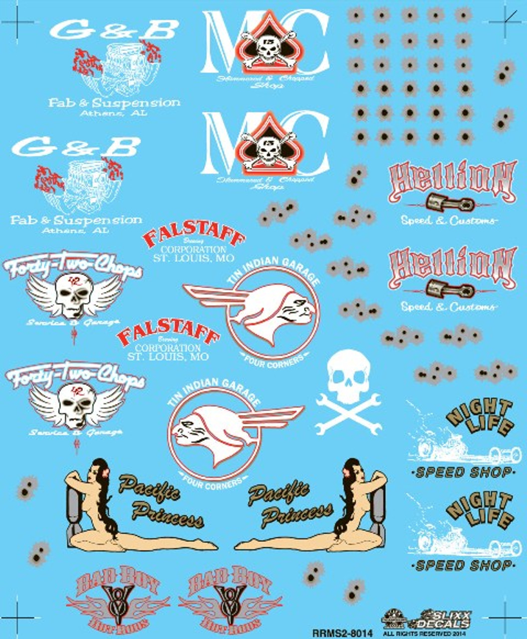 Rat Rod & Misc Graphics Decal Sheet #3, 1/25