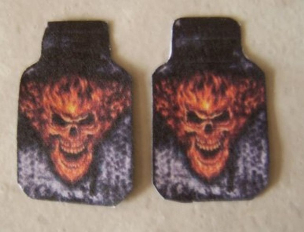 Floor Mats, Large Flaming Skull, 1/25