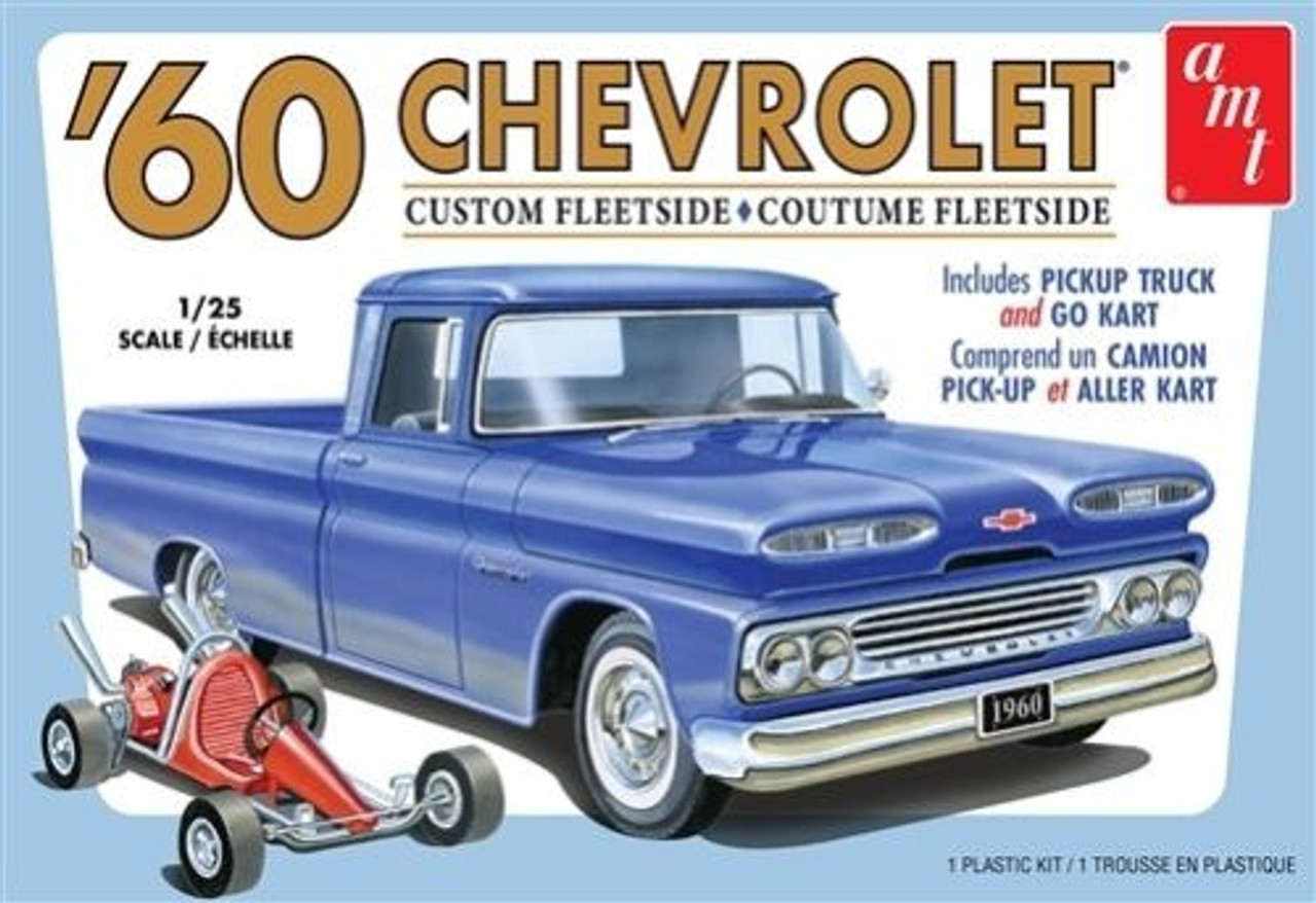 '60 Chevy Fleetside Pickup w/ Go Kart 1/25