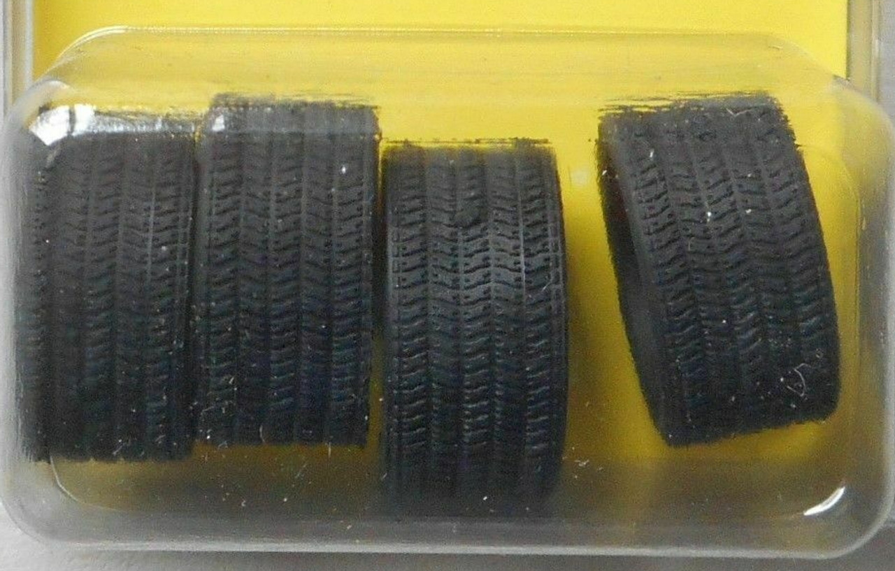 "Low Profile 19"" Black Wall Tire Set of 4 1/25"