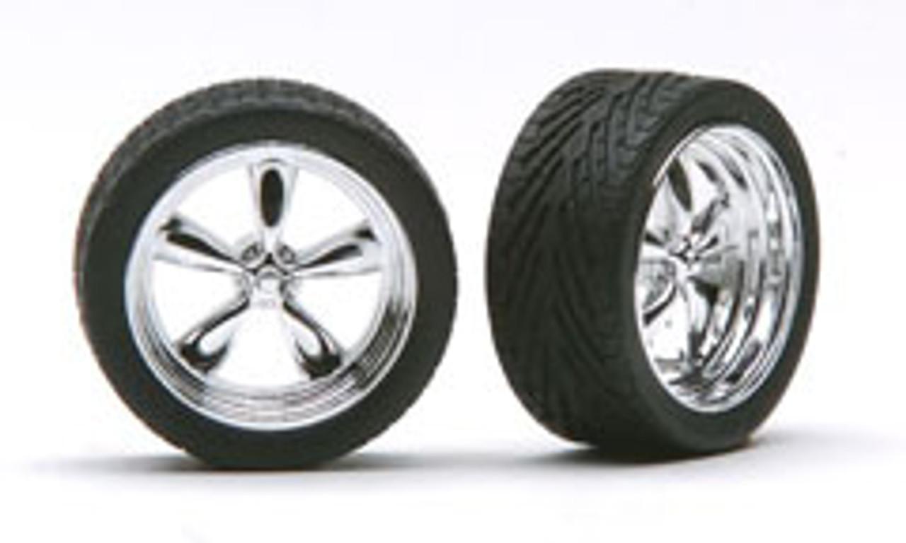 """19"""" Chrome T's Wheels & Tires (2 pair)  1/24-1/25"""