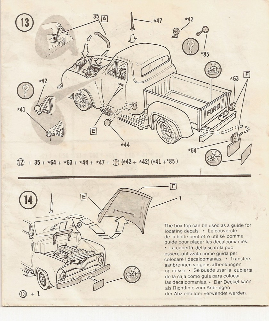 '55 Ford Pickup Body & Chassis (Partial Kit), 1/24