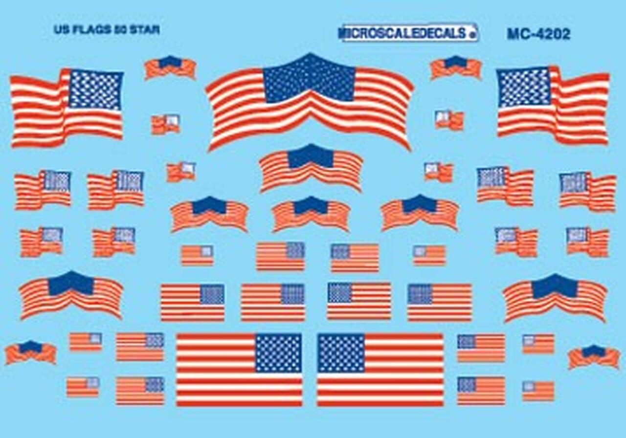 American Flag Decal Sheet