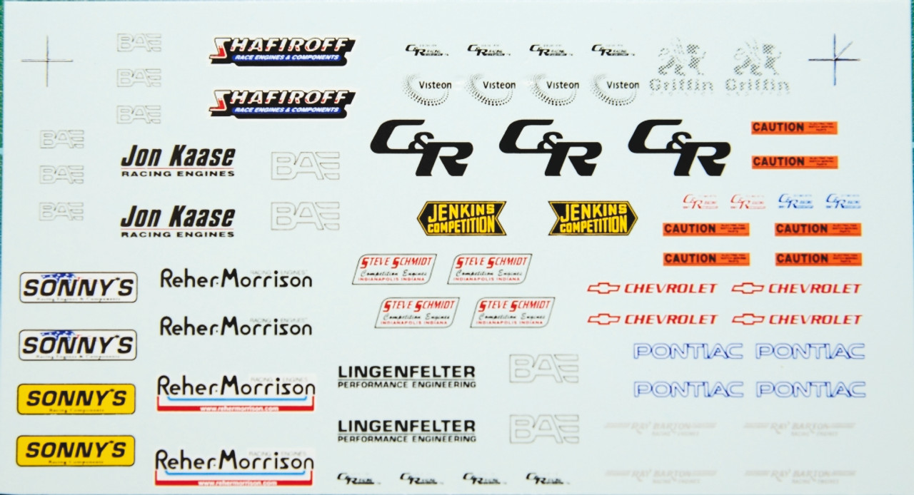 Valve Covers and Radiator Decal Sheet 1/25