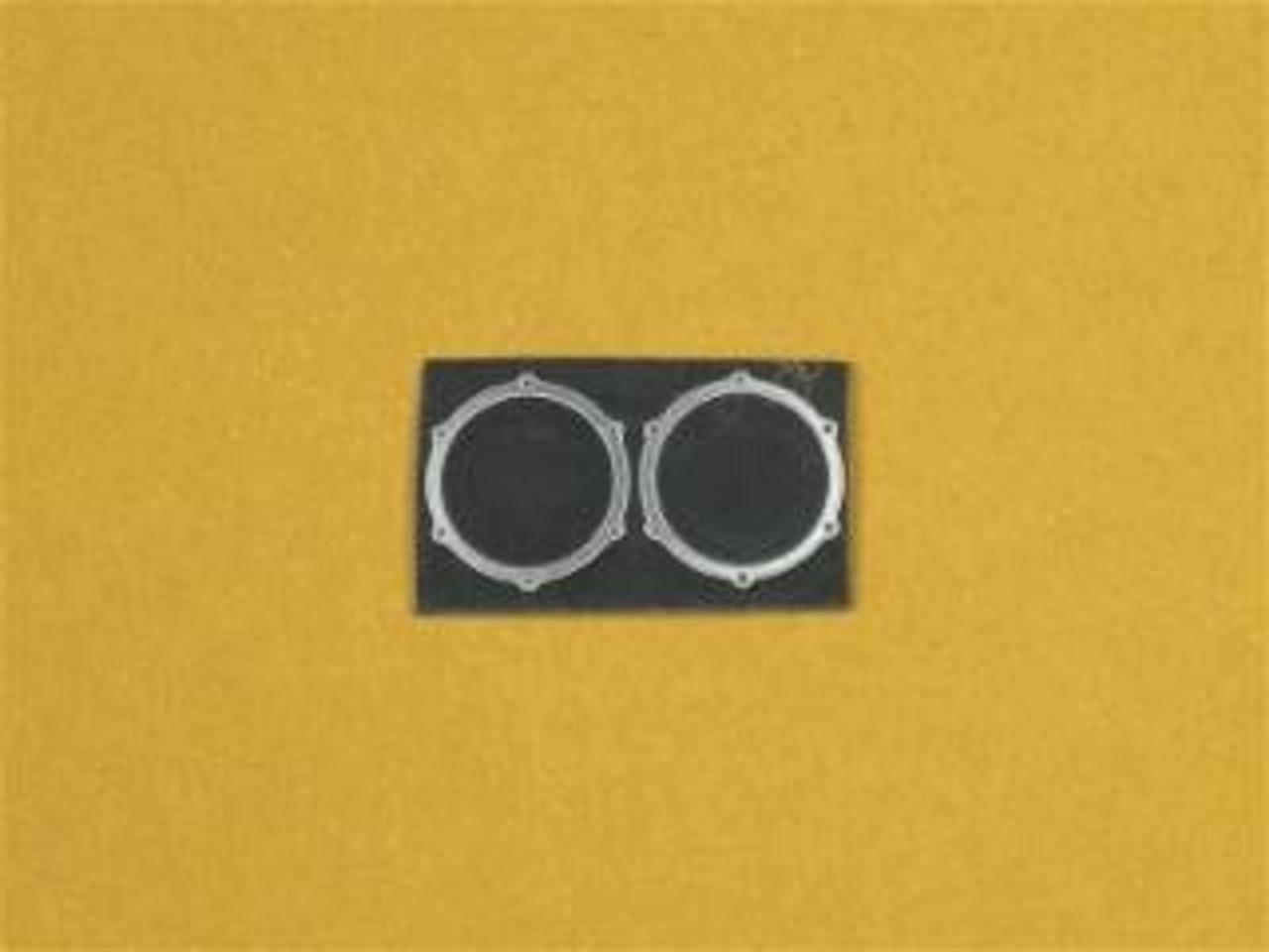 Round Exhaust Bezels Doorslammer, ProMod, 1/25