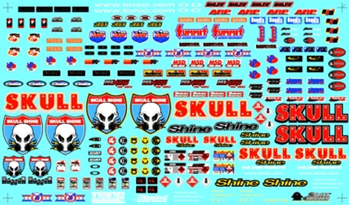 Current Drag Racing Contingency Decal Sheet 1/25