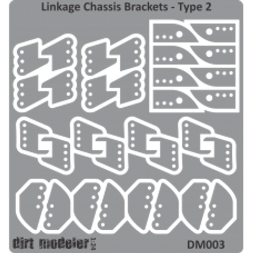Chassis Linkage Brackets, Brass 1/25