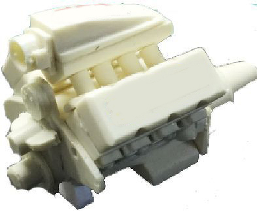 800ci BB Tunnel Ram, 2 Carbs Engine 1/25