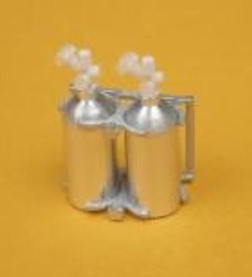 NoS or Fire Aluminum 2-Bottle Set with Upright Holder 1/25