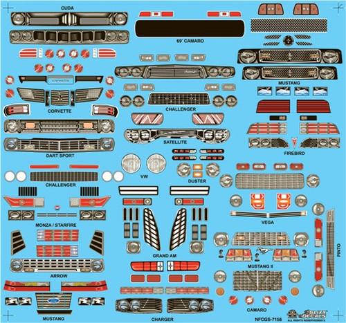 Nostalgia Funny Car Grill Sheet #3 1/25