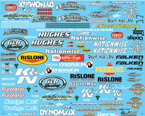 Drag Racing Quarter Panel Sheet #1, 1/25