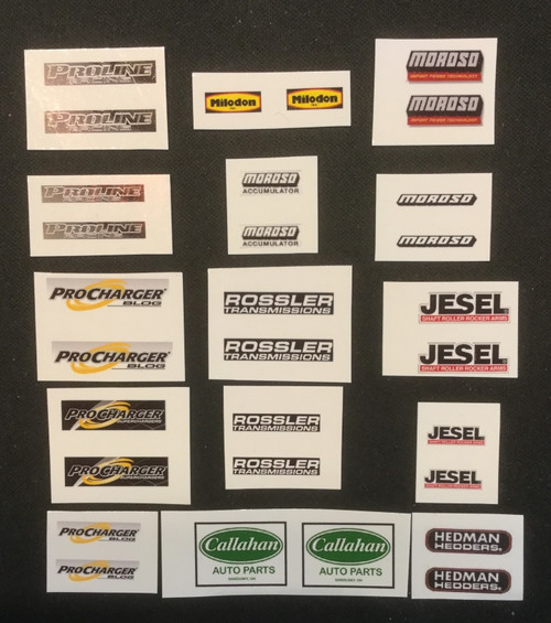 Engine Decal Sheet 1, 1/25