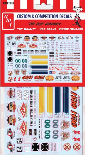 Rat Rod  & Nostalgia Graphics Decal, 1/25