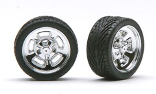 "Hella's 23"" Wheels & Tires (2 pair)  1/24-1/25"