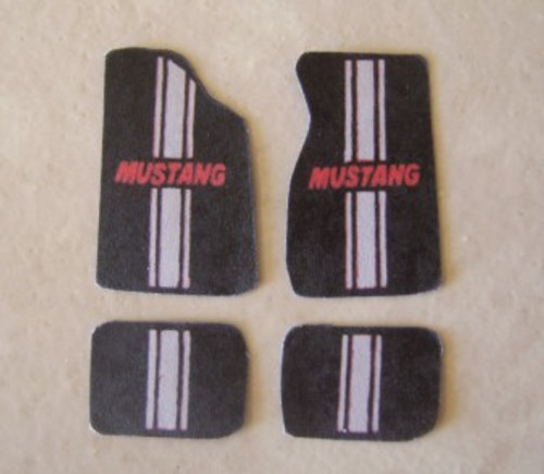Floor Mats, Mustang/Gray Stripe, 1/25