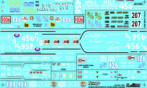 S&S Gasser Decal Sheet #3 1/25