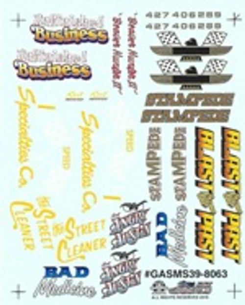 Gasser Miscellaneous Decal Sheet #3, 1/25