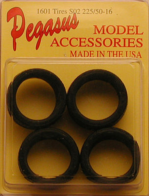 """Low Profile 19"""" Black Wall Tire Set of 4 1/25"""
