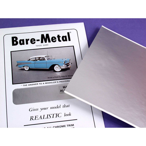 Bare Metal Foil, Chrome, Half Sheet