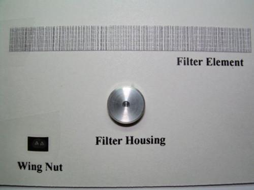 """Round 9"""" Aluminum Air Cleaner 1/25"""