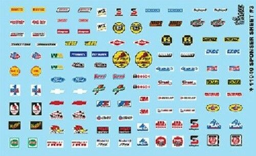 Manufacturer Sponsor Decal Sheet 3,  1/25