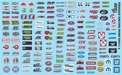 Drag Racing Sponsor Decal Sheet,  1/25