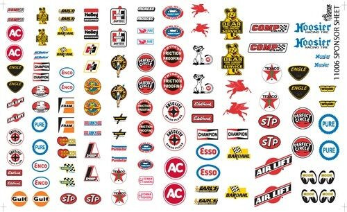 Automotive Manufacturer Decal Sheet,  1/25