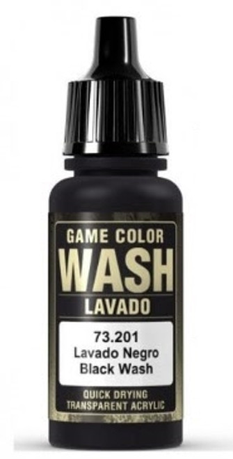 Vallejo Black Wash, .57  fl oz Bottle