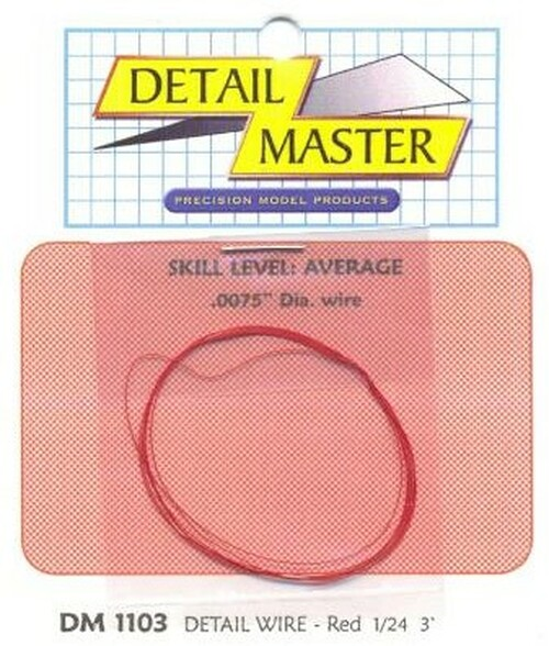 """Detailing Wire .0075"""", Red"""