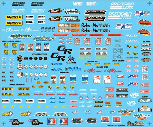 Drag Racing Goody Decal Sheet 1/16