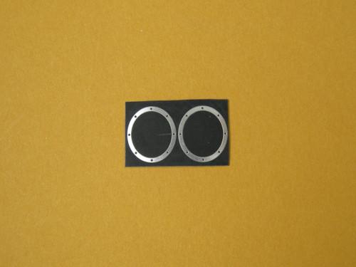 Oval Fender Exhaust Bezels Pro Mod, etc 1/16