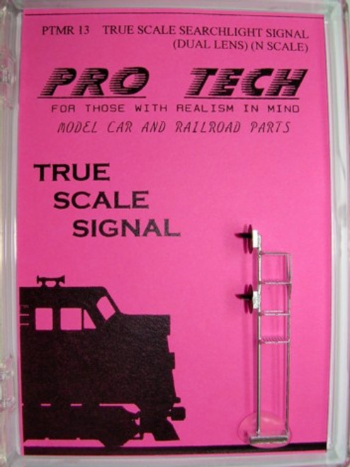 True Scale Searchlight Signal N Scale (double lens, photoetched) Pro Tech