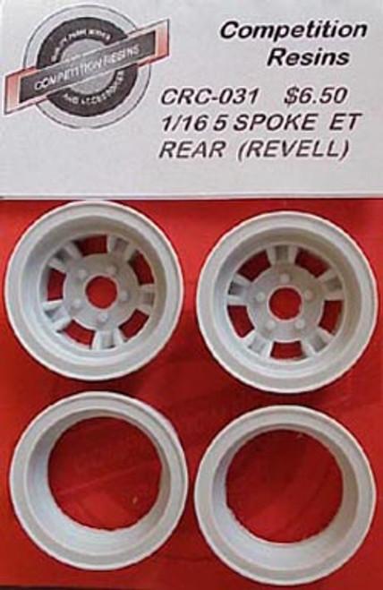ET III Style Rear Wheels 1/16