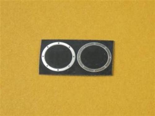 Oval Exhaust Bezels Doorslammer, ProMod, 1/25