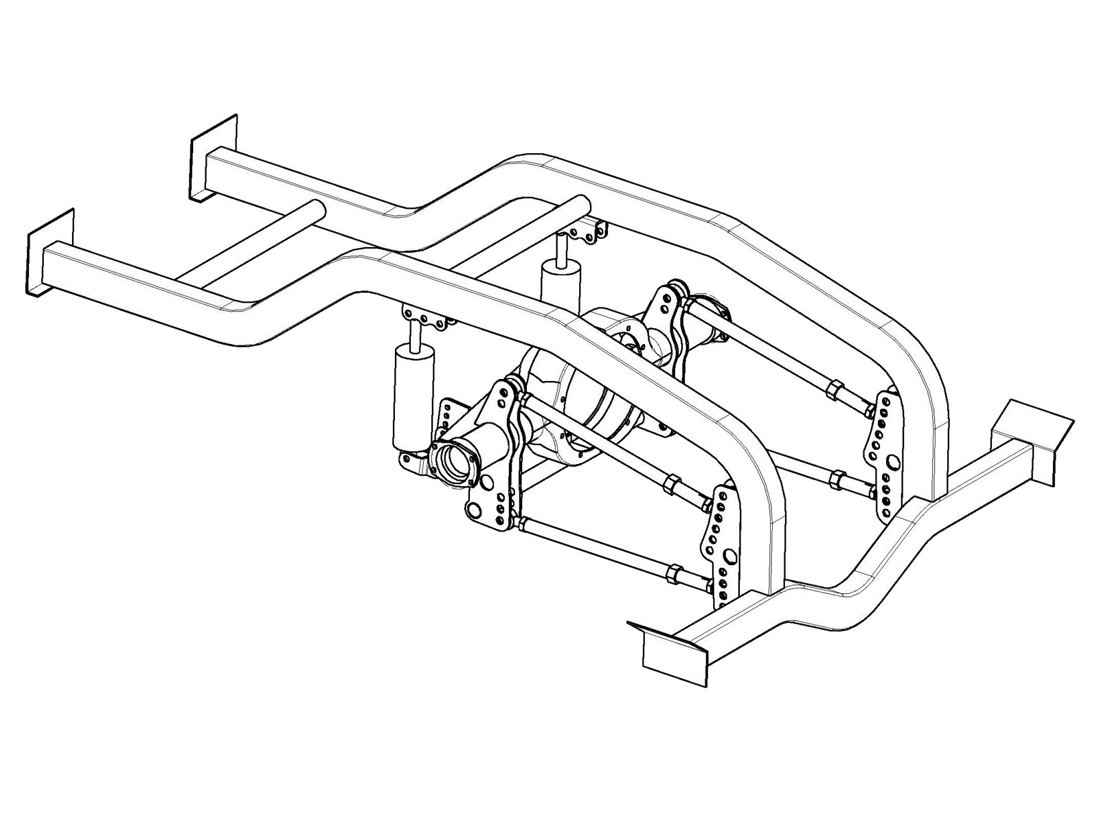 4 link pro mod suspension kit fits dana also 1 25 ted s modeling Diagram of Muffler ps0543 4 link drawing