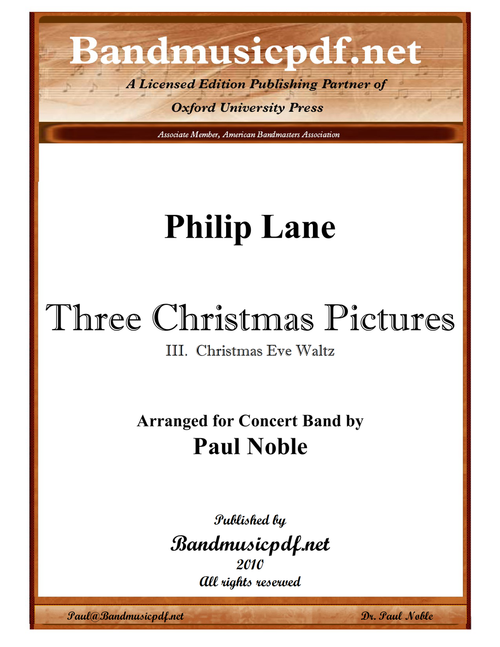 Three Christmas Pictures 3. Christmas Eve Waltz