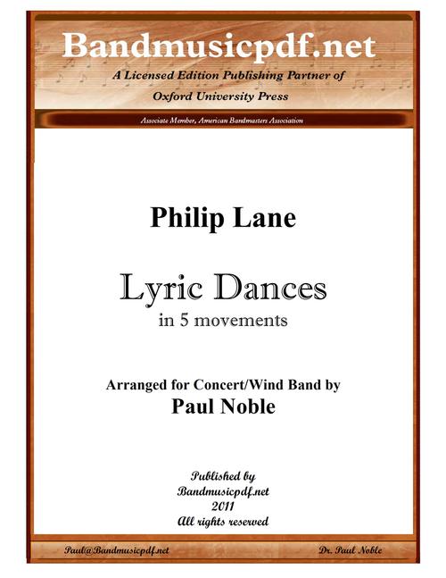 Lyric Dances - in Five Movements