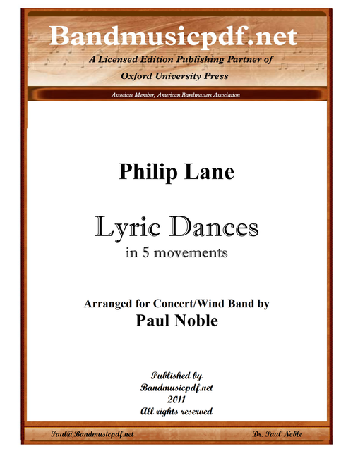 Lyric Dances - in Five Movements