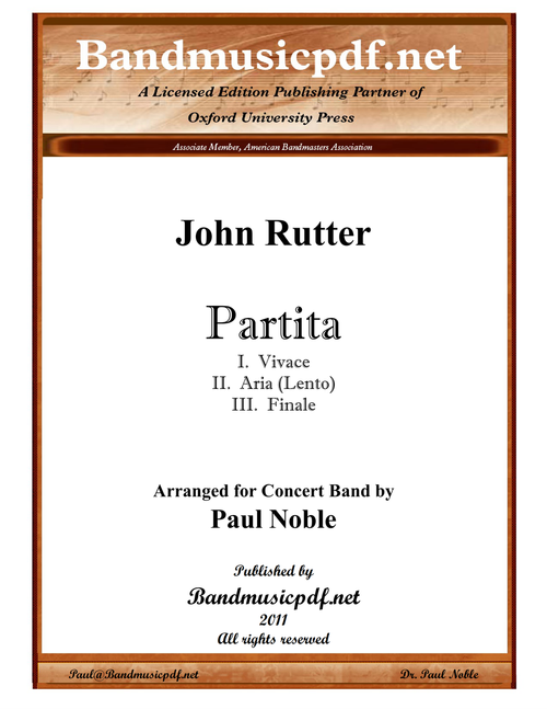 Partita, in three movements
